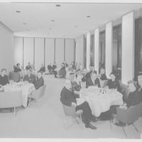 Hemisphere Club, Time-Life Building, Rockefeller Center. Group in Gold room