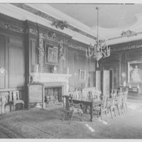 John S. Phipps Manor House, residence, Old Westbury Gardens, Old Westbury, Long Island. Dining room