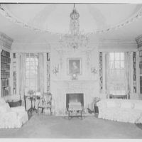 John S. Phipps Manor House, residence, Old Westbury Gardens, Old Westbury, Long Island. Mrs. Phipps' study