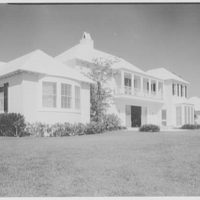 Mr. and Mrs. Edward Swenson, residence at 21 Casurina Concourse, Coral Gables, Florida. East facade, close-up