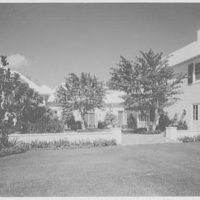 Mr. and Mrs. Edward Swenson, residence at 21 Casurina Concourse, Coral Gables, Florida. Patio