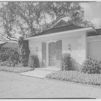 Mr. and Mrs. George Ed. Hackney, residence in Hobe Sound, Florida. Entrance detail