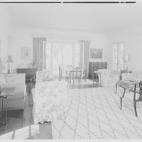 Mr. and Mrs. George Ed. Hackney, residence in Hobe Sound, Florida. Living room, to window
