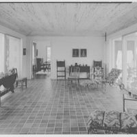 Mr. and Mrs. George Ed. Hackney, residence in Hobe Sound, Florida. Loggia