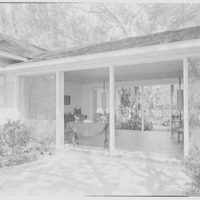 Mr. and Mrs. George Ed. Hackney, residence in Hobe Sound, Florida. Through terrace