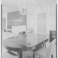 Mr. and Mrs. Herbert Bedell, residence at 200 Rugby Rd., Brooklyn, New York. Dining room, vertical