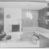 Mr. and Mrs. Herbert Bedell, residence at 200 Rugby Rd., Brooklyn, New York. Library, to den