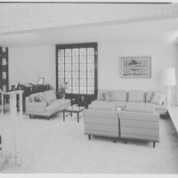 Mr. and Mrs. Herbert Bedell, residence at 200 Rugby Rd., Brooklyn, New York. Living room, to sofa