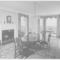 Mr. and Mrs. Hugh Chatham, residence in Elkin, North Carolina. Dining room, to windows