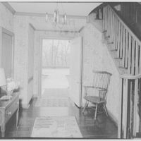 Mr. and Mrs. Hugh Chatham, residence in Elkin, North Carolina. Entrance hall vista to door