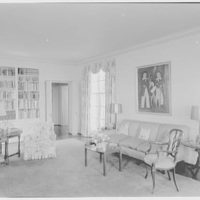 Mr. and Mrs. Hugh Chatham, residence in Elkin, North Carolina. Living room, to sofa