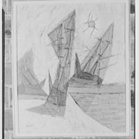 Mr. William Snaith, Weston, Connecticut, group of paintings. Careening