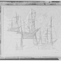 Mr. William Snaith, Weston, Connecticut, group of paintings. Spithead review