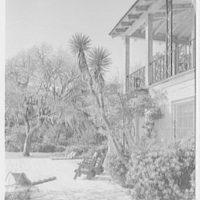 Mrs. Reynolds Bagley, Musgrove Plantation, residence on St. Simons Island, Georgia. Main house from north (sharp)