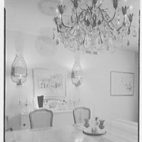 Raymond Loewy, apartment at 900 5th Ave., New York City. Dining room detail