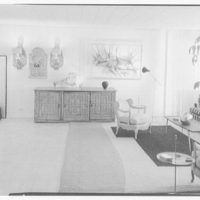 Raymond Loewy, apartment at 900 5th Ave., New York City. To wall