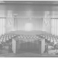 S.S. Victoria. Theater, curtains closed