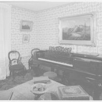 Andrew Johnson, residence in Greeneville, Tennessee. Piano, carpet and painting