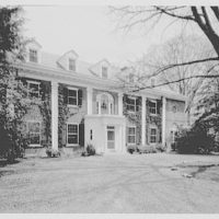 Auchincloss residence, McLean, Virginia. Front entrance, general view