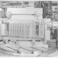 B & H Aircraft, Eastern Pkwy., Farmingdale, Long Island. Assembly vane cascade, in billing boring mill