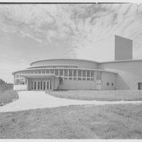Charles S. Colden Auditorium and School, Queens College. Entrance view I