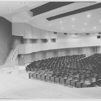 Charles S. Colden Auditorium and School, Queens College. Small theatre from stage