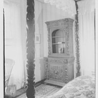 Franklin Pierce, residence at 52 S. Main St., Concord, New Hampshire. Commode through bedposts