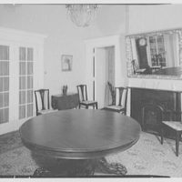 Franklin Pierce, residence at 52 S. Main St., Concord, New Hampshire. Large dining room table
