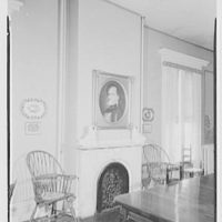 Franklin Pierce, residence at 52 S. Main St., Concord, New Hampshire. Over table, to fireplace