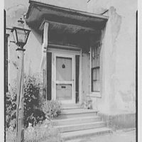 Franklin Pierce, residence at 52 S. Main St., Concord, New Hampshire. Side entrance detail