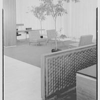 Hanover Bank, 350 Park Ave., New York City. Detail leather padding
