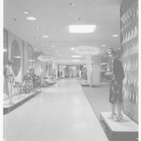 Higbee Department Store, business in Cleveland, Ohio. View to Crystal room I