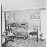 John Adams, residence in Quincy, Massachusetts. Desk given to John Adams by his mother
