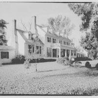 John Tyler, Sherwood Forest, residence in Virginia. Exterior from northeast