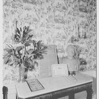 John Tyler, Sherwood Forest, residence in Virginia. To console table and Confederate money