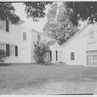Pierce homestead, Hillsboro, New Hampshire. Exterior III, to side entrance