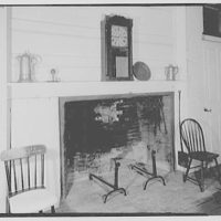Pierce homestead, Hillsboro, New Hampshire. Fireplace in dining room