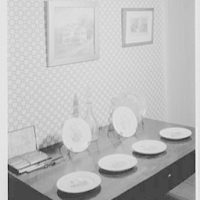 President Grover Cleveland's birthplace, in Caldwell, New Jersey. Souvenir plates with Mrs. Cleveland, four candidates running