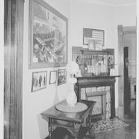 President Warren G. Harding, residence in Marion, Ohio. Table at which he received election news