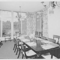 Smith College Faculty Center, Northampton, Massachusetts. Private dining room