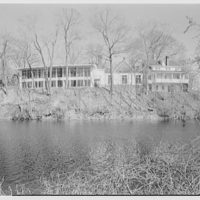 Smith College, Northampton, Massachusetts. Faculty club from across river II