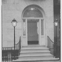 William Frank, residence at 120 East 70th St., New York City. Entrance