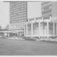 Americana Hotel, 52nd St. and 7th Ave., New York City. Entrance section from right