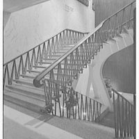 Americana Hotel, 52nd St. and 7th Ave., New York City. Flying staircase I