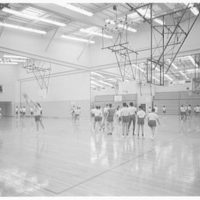 Cardinal Spellman High School, Baychester Ave. and 229th St., Bronx. Gym, action shot