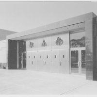 Cardinal Spellman High School. Detail of east entrance