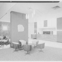 Howard Johnson's motor lodge, 8th Ave. at 51 St., New York City. Lobby, to desk