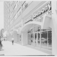 Howard Johnson's motor lodge, 8th Ave. at 51 St., New York City. Sidewalk view, looking south