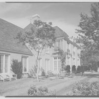 Joseph Verner Reed, Jr., residence in Greenwich, Connecticut. Rear facade, sharp view