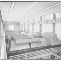 Public Service Company, generating station, Mercer plant. Turbine house, of generating station
